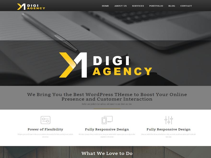 Best WordPress theme Digiagency Theme