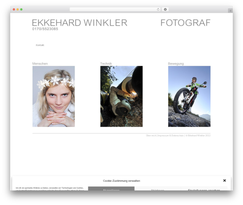 Best WordPress theme Trim - winklerbild.de