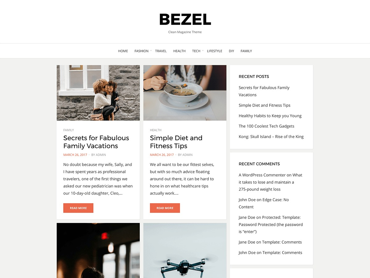 Bezel WordPress theme free download