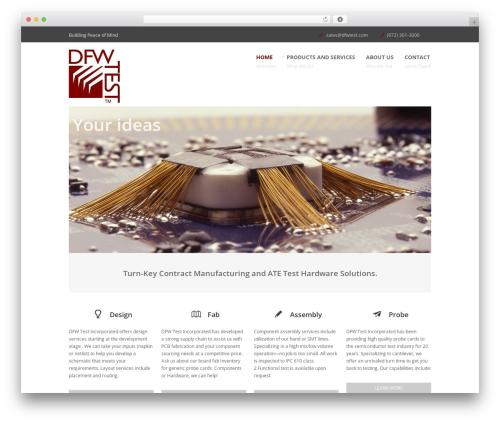 Bigwig WordPress page template - web.dfwtest.com/wordpress