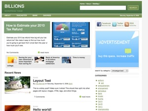 Billions WordPress theme
