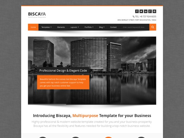 Biscaya top WordPress theme