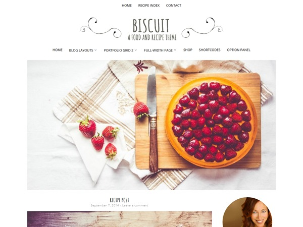 Biscuit wallpapers WordPress theme