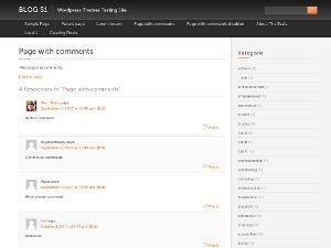 Black with Orange template WordPress