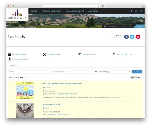 Free WordPress All-in-One Event Calendar plugin - wineopolis.com/directory/categories/festivals