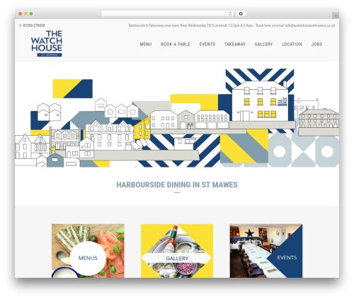 Bridge WordPress restaurant theme - watchhousestmawes.co.uk