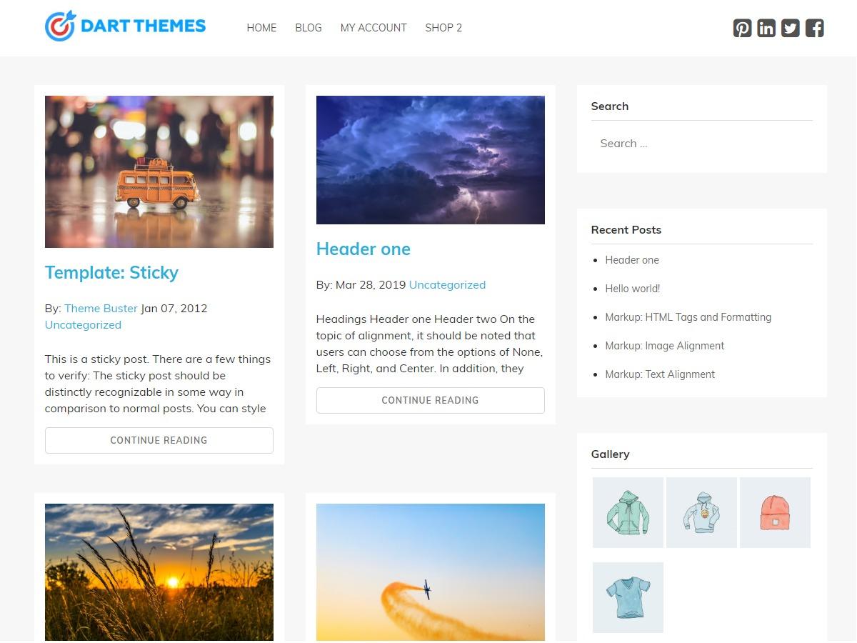 Bug Blog company WordPress theme