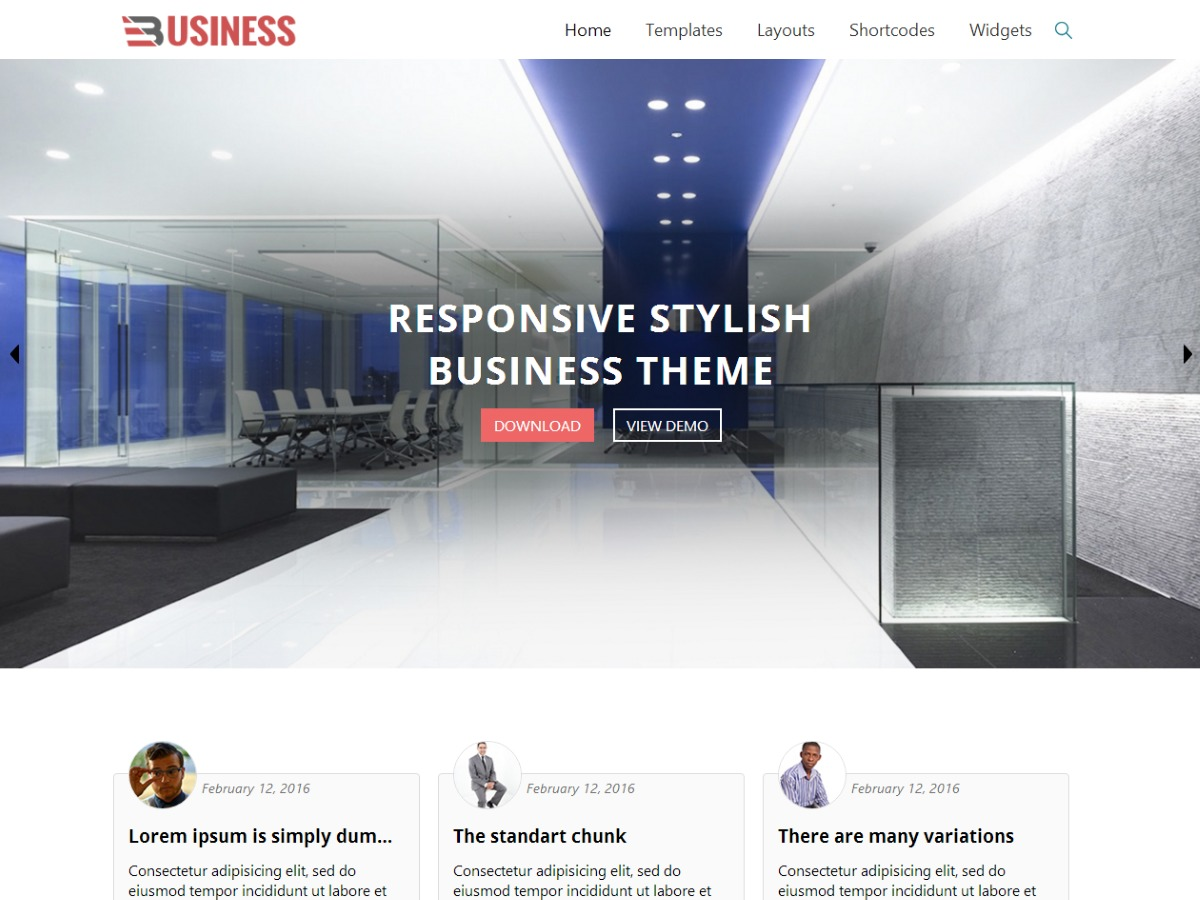 Business World Child WordPress shop theme