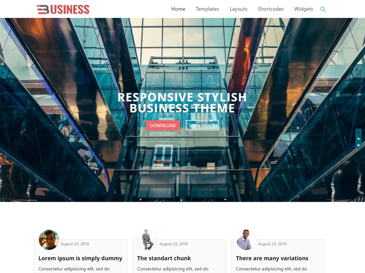 Business World WordPress blog theme
