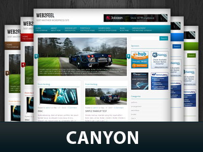 Canyon WordPress theme design