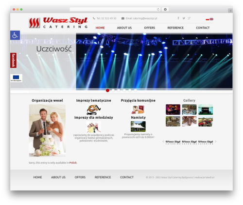 Catering WordPress theme design - waszstyl.pl
