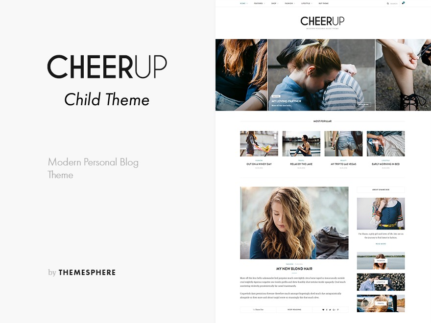 CheerUp Child WordPress page template