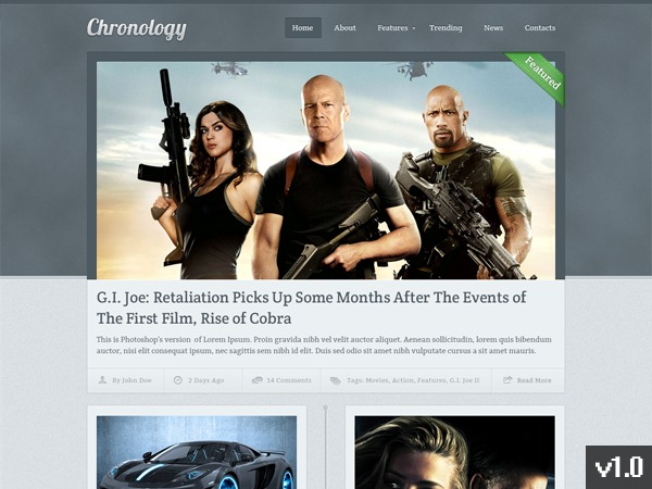 Chronology by MyThemeShop WordPress shopping theme