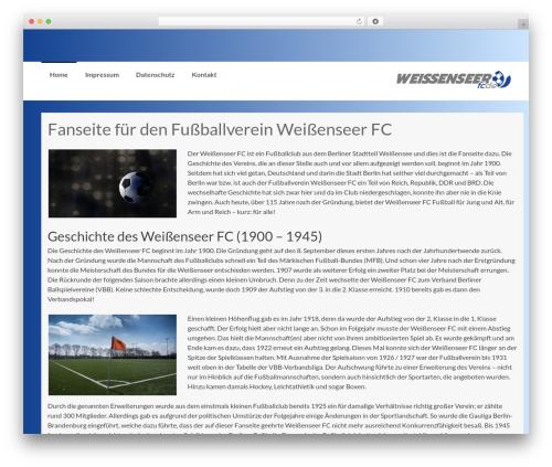 Coller best free WordPress theme - weissenseer-fc.de