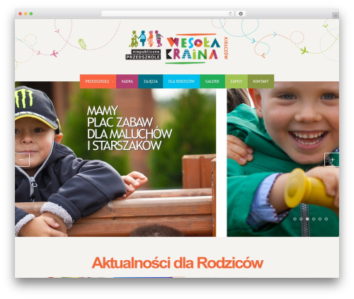 Colored Theme WordPress template - wesola-kraina.pl