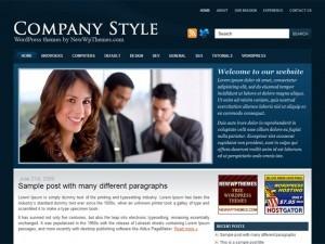 Company Style Blue company WordPress theme