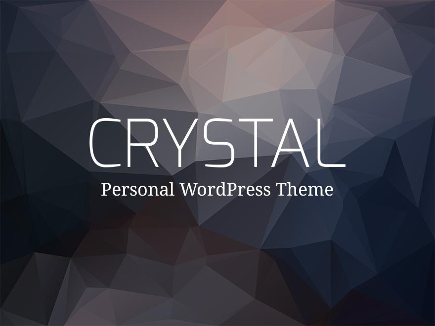 Crystal Premium Personal Blog WordPress Theme WordPress blog theme