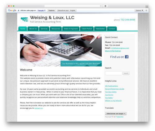 Customized company WordPress theme - weisingloux.com