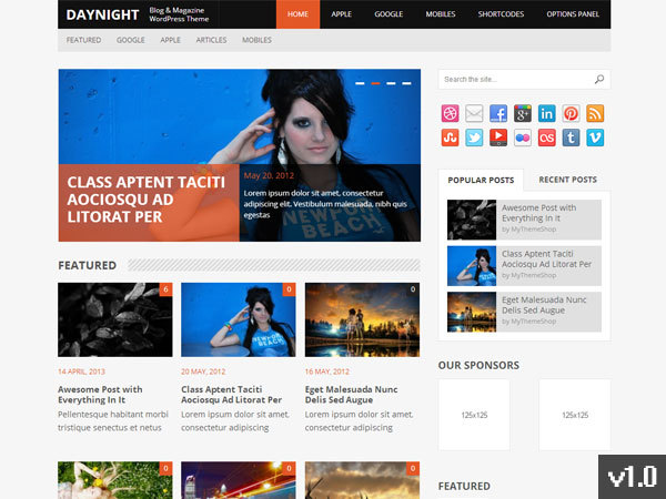 Daynight WordPress blog theme