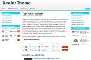 Dealer Theme best WordPress template