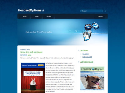 DeepBlue WordPress blog theme