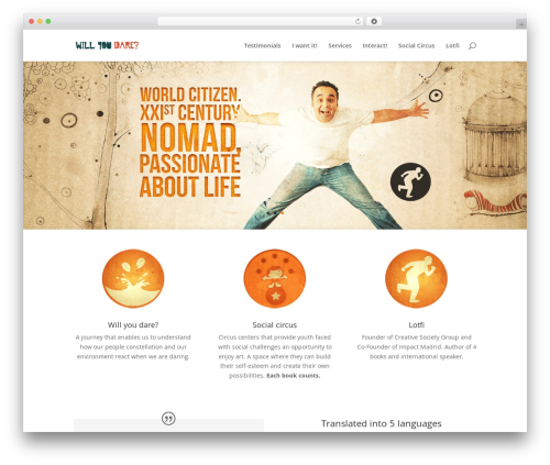 Divi WP theme - willyoudare.org