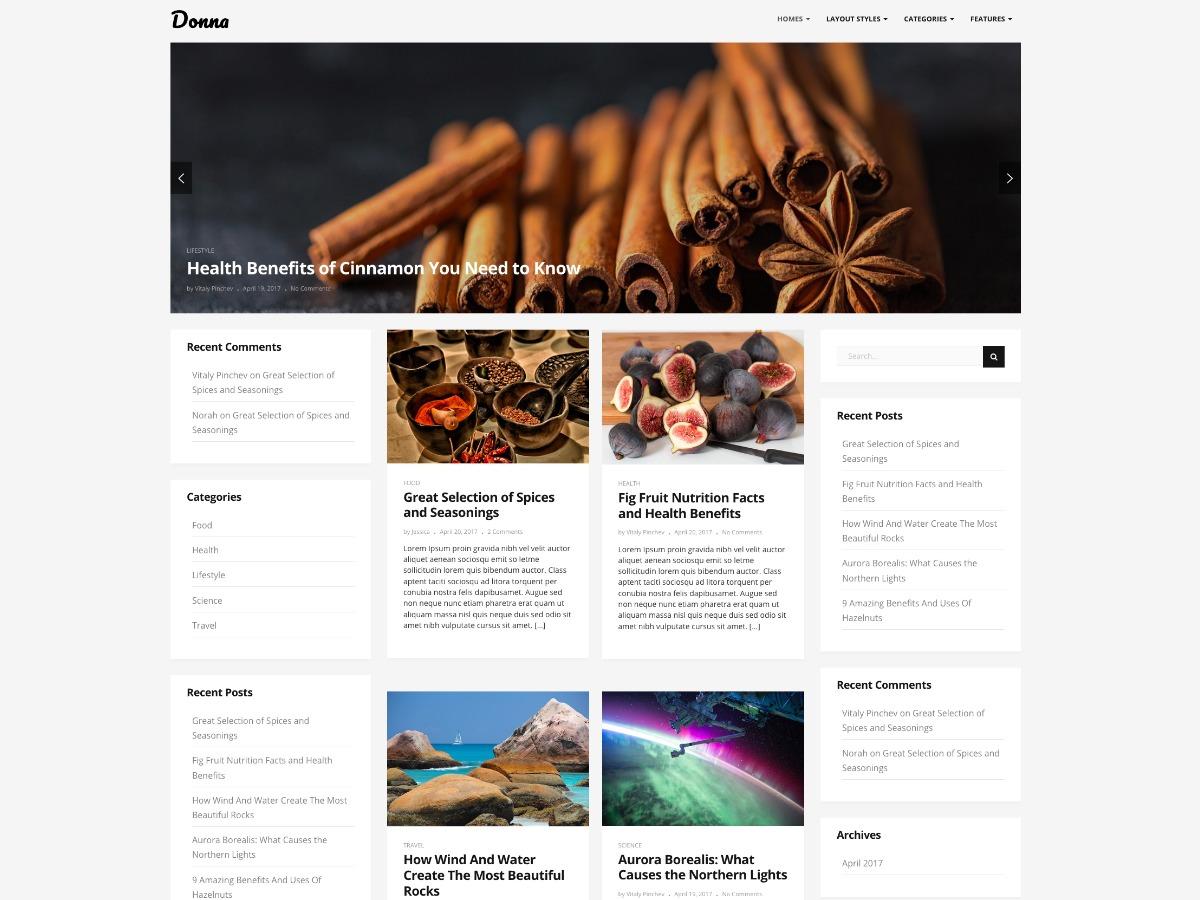 Donna WordPress blog theme
