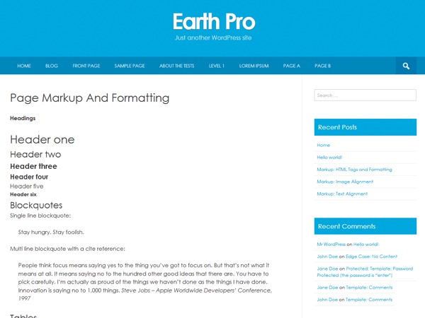 Earth Pro WordPress template for business