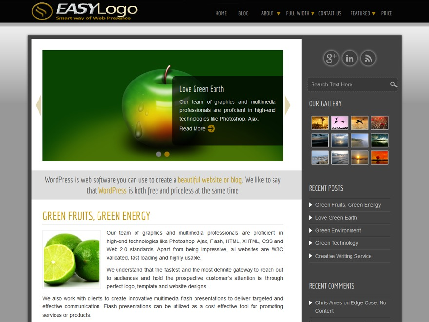 Easy theme WordPress free