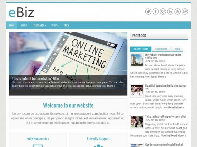 Ebiz WordPress template for business