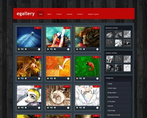 eGallery WordPress theme image