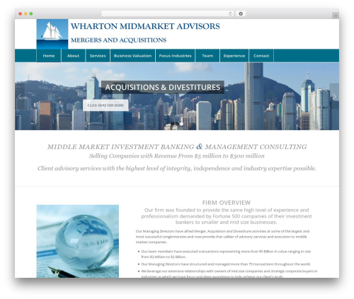 Enfold WordPress template for business - whartonmidmarketadvisors.com