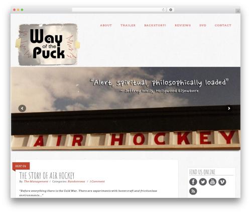 Extinct WordPress blog template - wayofthepuck.com