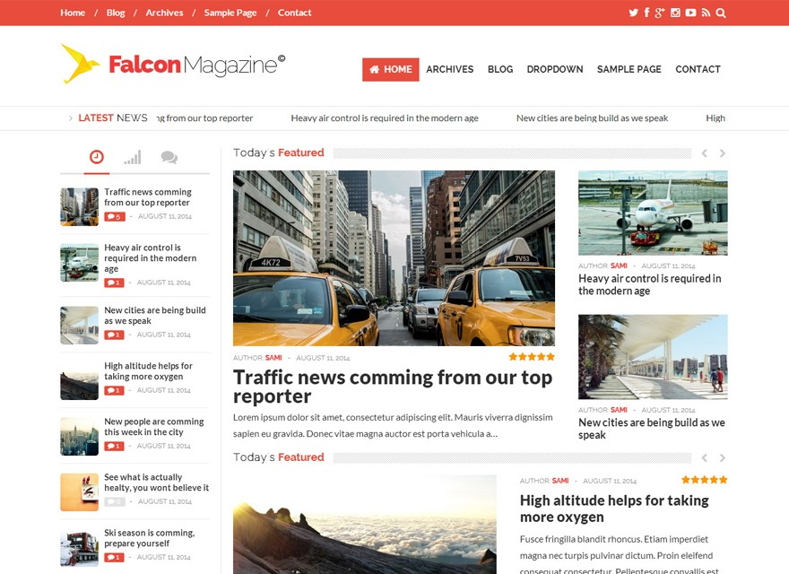 Falcon Magazine WordPress news template