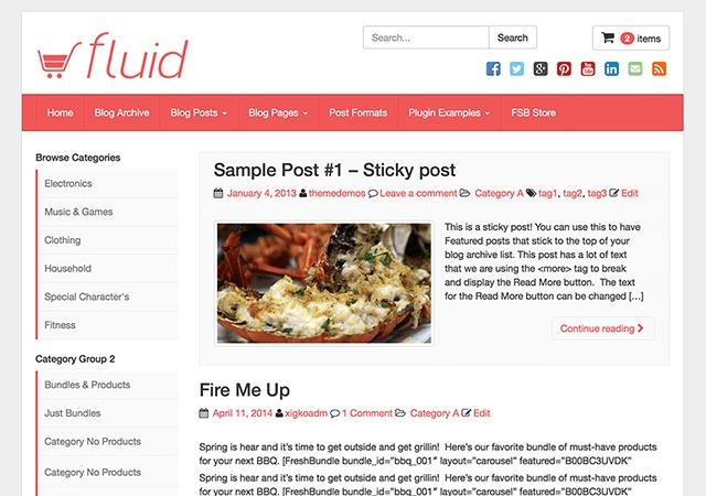 Fluid WP Theme WordPress theme