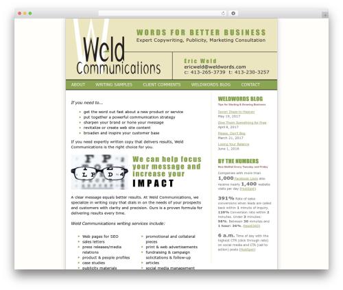 Freelancer Theme - Framework company WordPress theme - weldwords.com
