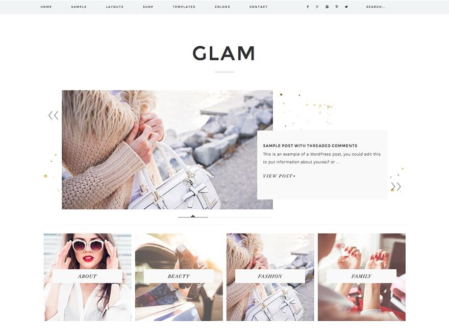 Glam Theme WordPress ecommerce template