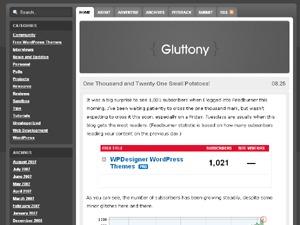 Gluttony food WordPress theme