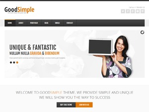 GoodSimple WordPress template for business