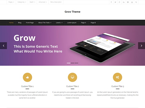 Grow theme WordPress free