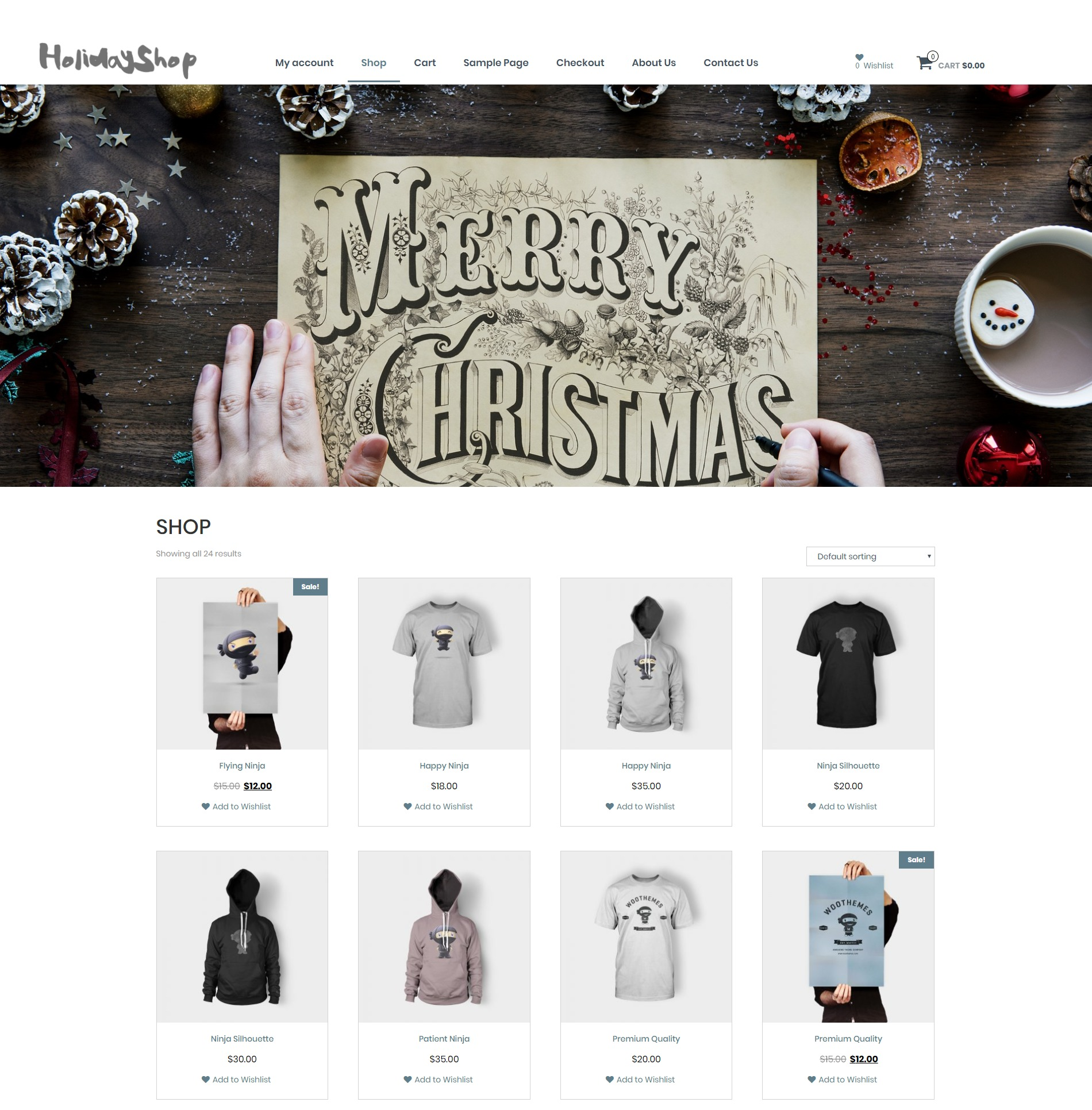 Holidayshop WordPress theme download