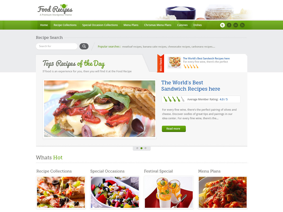 InspiryThemes: Food Recipes food WordPress theme