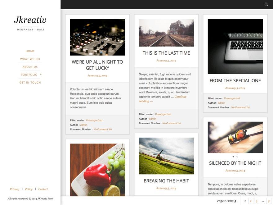 Jkreativ Lite WordPress blog template