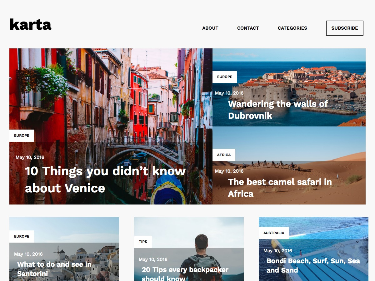 Karta free WordPress theme