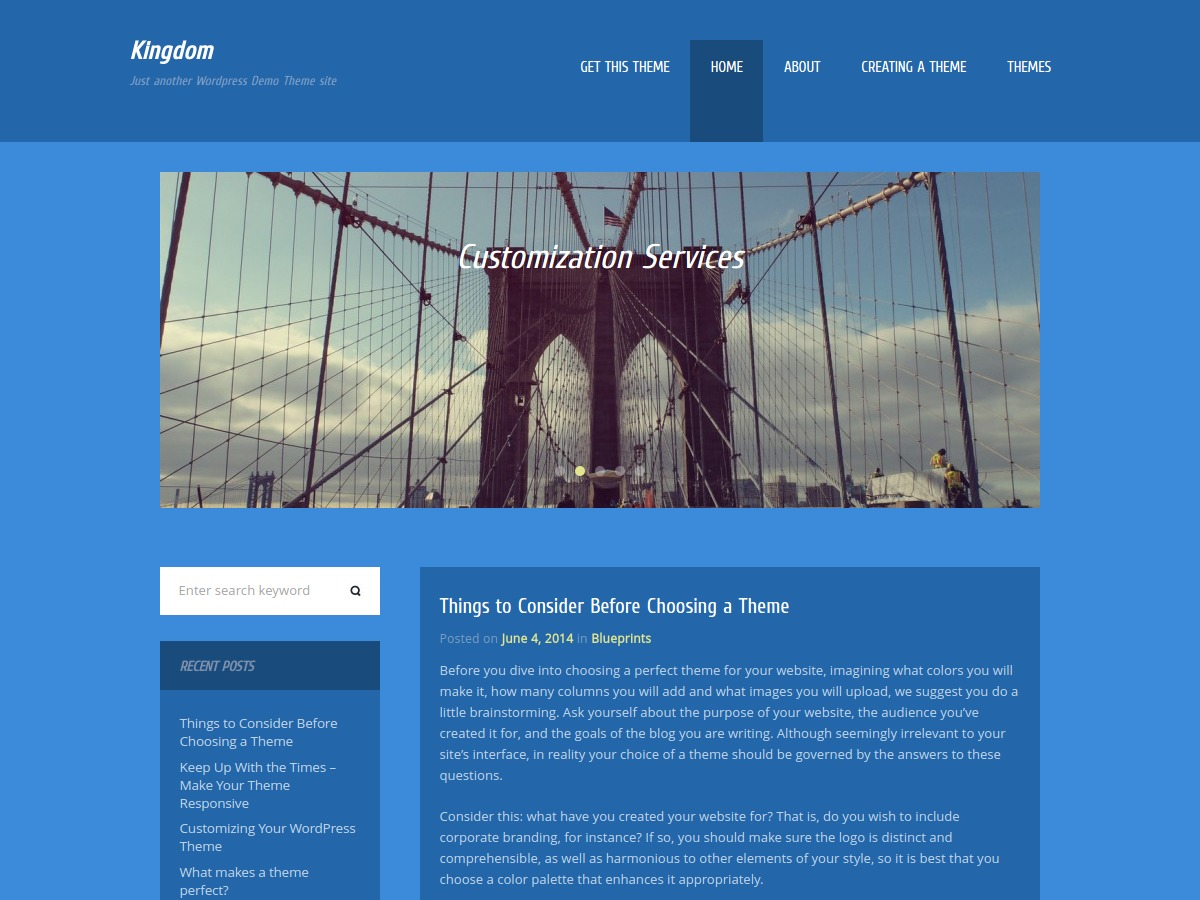 Kingdom template WordPress free