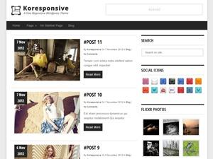 Koresponsive theme WordPress