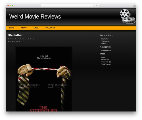 Layers WordPress video template - weirdmoviereviews.com