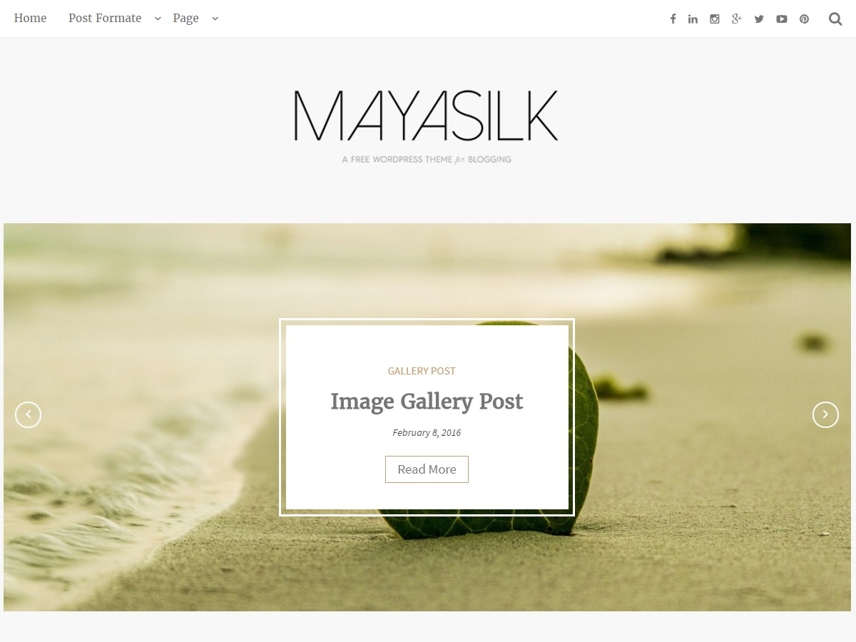 MayaSilk template WordPress free