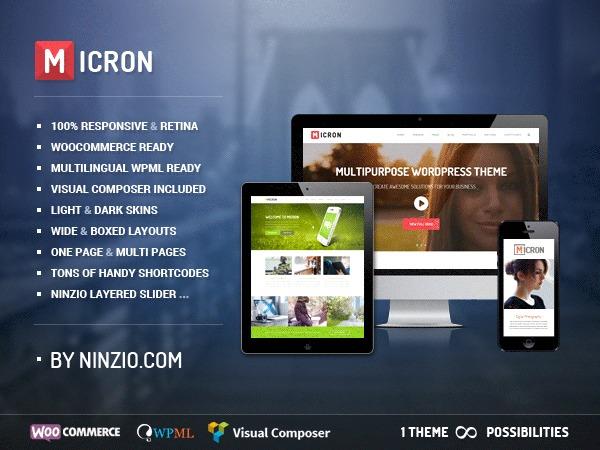 Micron top WordPress theme