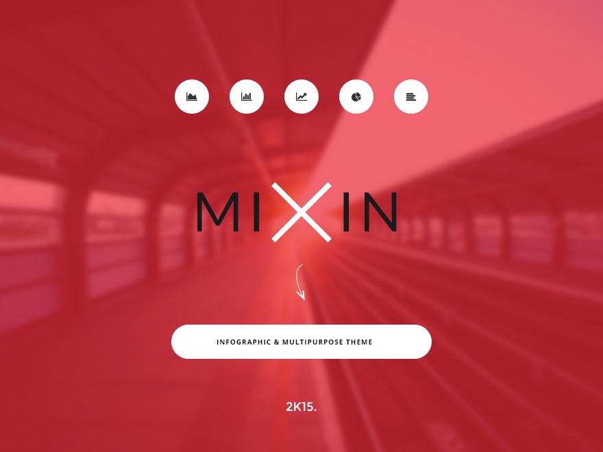 Mixin WordPress blog theme